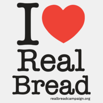 I ❤ Real Bread - Stacked Design - Mens White Organic T-Shirt Design