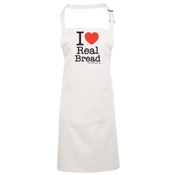 I ❤ Real Bread - Stacked Design - Apron Thumbnail